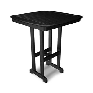Nautical Black 37 Inch Bar Height Table