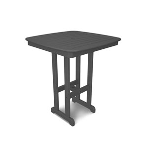 Nautical Slate Grey 37 Inch Bar Height Table