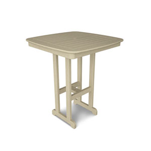 Nautical Sand 37 Inch Bar Height Table