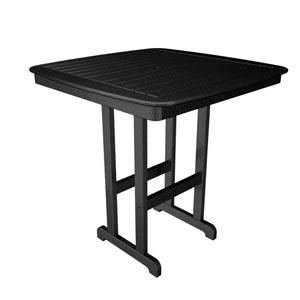 Nautical Black 44 Inch Bar Height Table