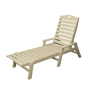 Nautical Sand Chaise w/ Arms - Stackable