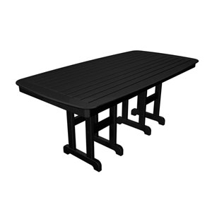 Nautical Black 37 Inch x 72 Inch Dining Table