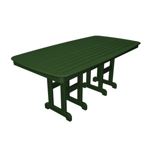 Nautical Green 37 Inch x 72 Inch Dining Table