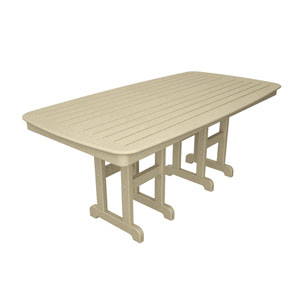Nautical Sand 37 Inch x 72 Inch Dining Table
