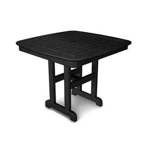 Nautical Black 37 Inch Dining Table