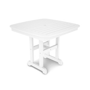 Nautical White 37 Inch Dining Table