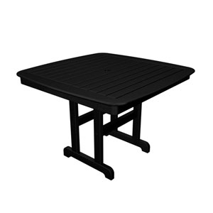 Nautical Black 44 Inch Dining Table