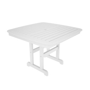 Nautical White 44 Inch Dining Table