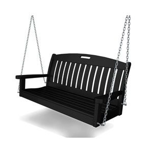 Nautical Black 48 Inch Swing