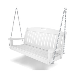 Nautical White 48 Inch Swing