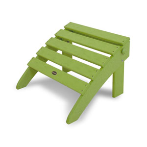 Classic Folding Ottoman in Lime