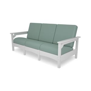 Club Sofa in White/Spa