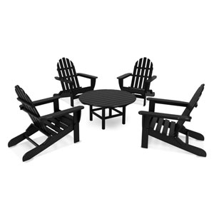 Classic Adirondack Five-Piece Conversation Group in Black
