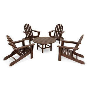 Classic Adirondack Five-Piece Conversation Group in Mahogany