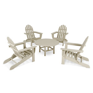 Classic Adirondack Five-Piece Conversation Group in Sand