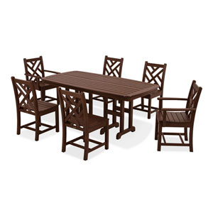 Chippendale Seven-Piece Dining Set in Mahogany
