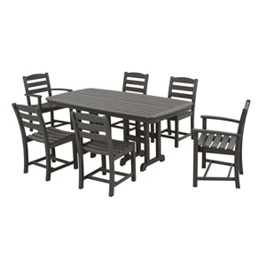 La Casa Cafe Seven-Piece Dining Set in Slate Grey
