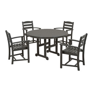 La Casa Cafe Five-Piece Dining Set in Slate Grey