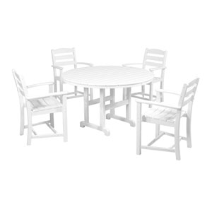 La Casa Cafe Five-Piece Dining Set in White