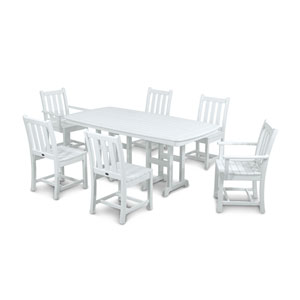 Traditional Garden Seven-Piece Dining Set in White