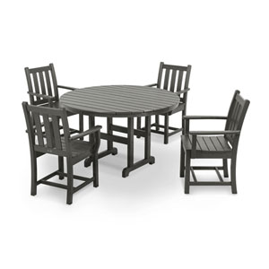 Traditional Garden Five-Piece Dining Set in Slate Grey