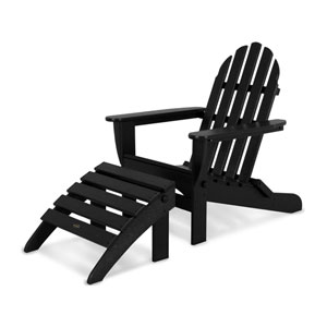 Classic Adirondack Two-Piece Set in Black