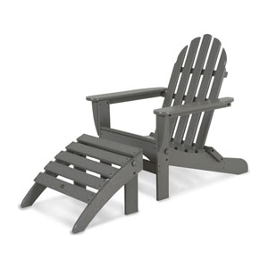Classic Adirondack Two-Piece Set in Slate Grey