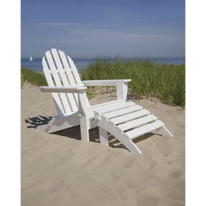 Classic Adirondack Two-Piece Set in White