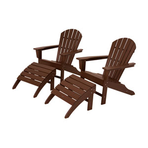 South Beach Four-Piece Adirondack Set in Mahogany