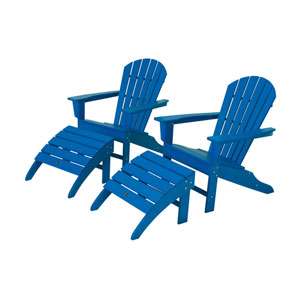 South Beach Four-Piece Adirondack Set in Pacific Blue