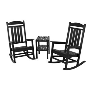 Presidential Three-Piece Rocker Set in Black