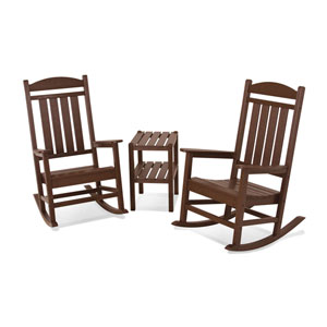 Presidential Three-Piece Rocker Set in Mahogany