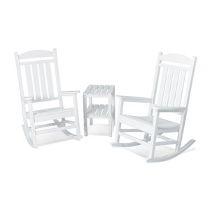 Presidential Three-Piece Rocker Set in White