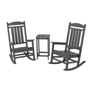 Presidential Three-Piece Rocker Set in Slate Grey