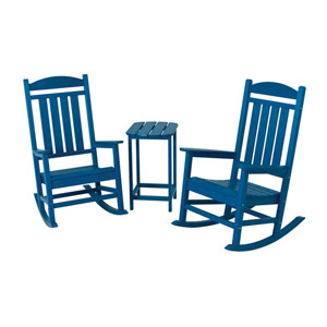 Presidential Three-Piece Rocker Set in Pacific Blue