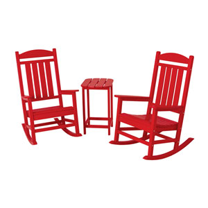 Presidential Three-Piece Rocker Set in Sunset Red