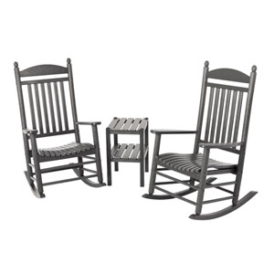Jefferson Three-Piece Rocker Set in Slate Grey