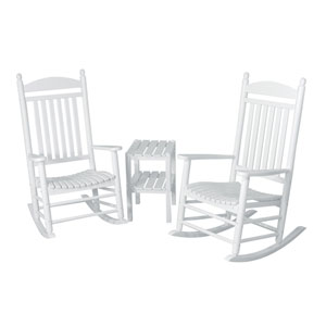 Jefferson Three-Piece Rocker Set in White