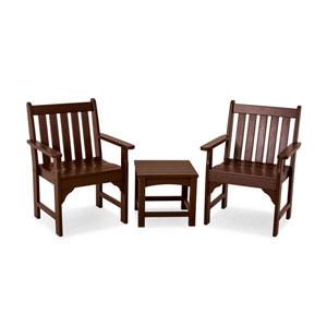Vineyard Three-Piece Garden Chair Set in Mahogany