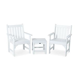 Vineyard Three-Piece Garden Chair Set in White