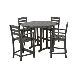 La Casa Cafe Five-Piece Counter Set in Slate Grey
