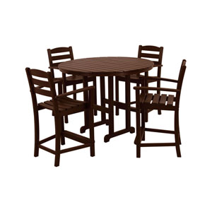La Casa Cafe Five-Piece Counter Set in Mahogany