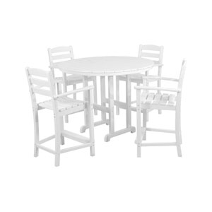 La Casa Cafe Five-Piece Counter Set in White