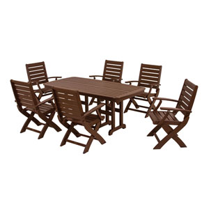 Signature Seven-Piece Dining Set in Mahogany