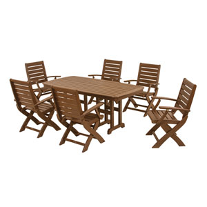 Signature Seven-Piece Dining Set in Teak