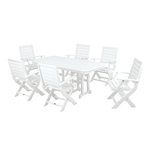 Signature Seven-Piece Dining Set in White