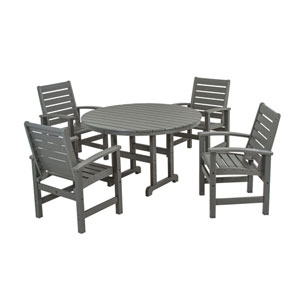 Signature Five-Piece Dining Set in Slate Grey