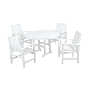 Signature Five-Piece Dining Set in White