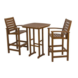 Signature Three-Piece Bar Set in Teak