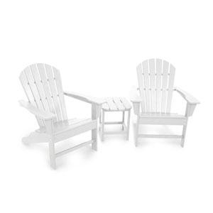South Beach White Adirondack 108-Inch Three Piece Seating Set
